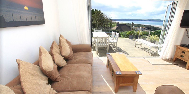 Woolacombe Holiday Cottages Ocean Breeze Lounnge With View
