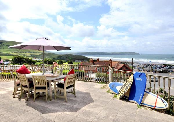 Woolacombe Holiday Cottages Surf View Balcony
