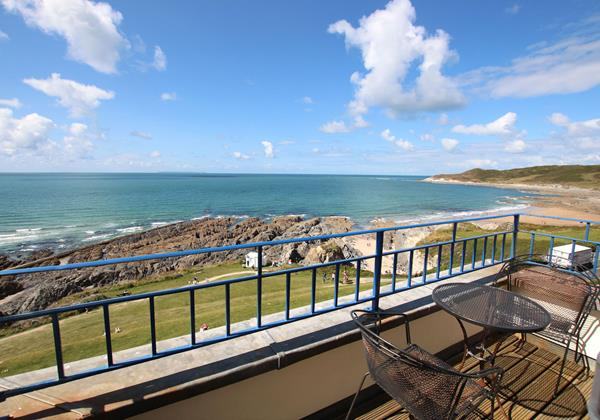 Woolacombe Holiday Cottages Devon Beach Penthouse Balcony
