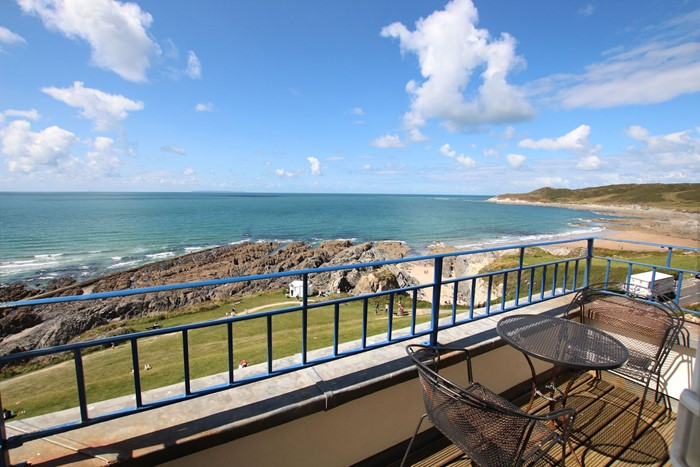 Woolacombe Holiday Cottages Devon Beach Penthouse Balcony