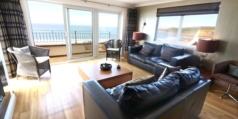 Woolacombe Holiday Cottages Devon Beach Penthouse Lounge Area