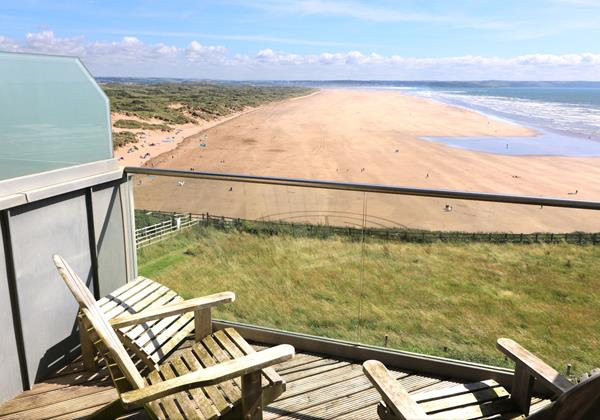 Saunton Holiday Cottages Ocean Point Balcony View