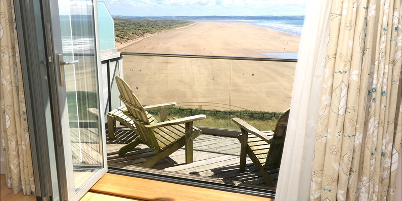 Saunton Holiday Cottages Ocean Point Lounge Window View