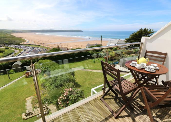 Woolacombe Holiday Cottages Gorselands Tea On Terrace