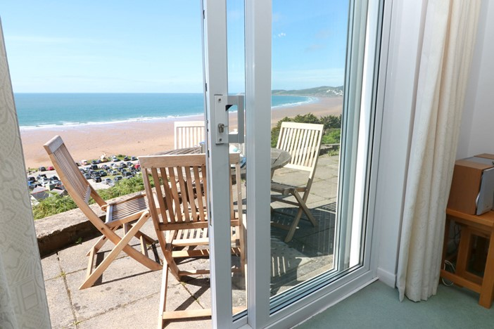 Putsborough Holiday Cottages Clifton Court Patio Doors View