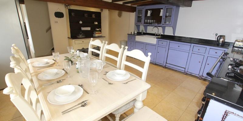 The Long House Georgeham Kitchen Area