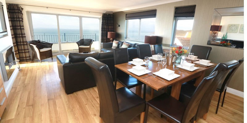Woolacombe Holiday Cottages Devon Beach Penthouse Dining Lounge Low Res