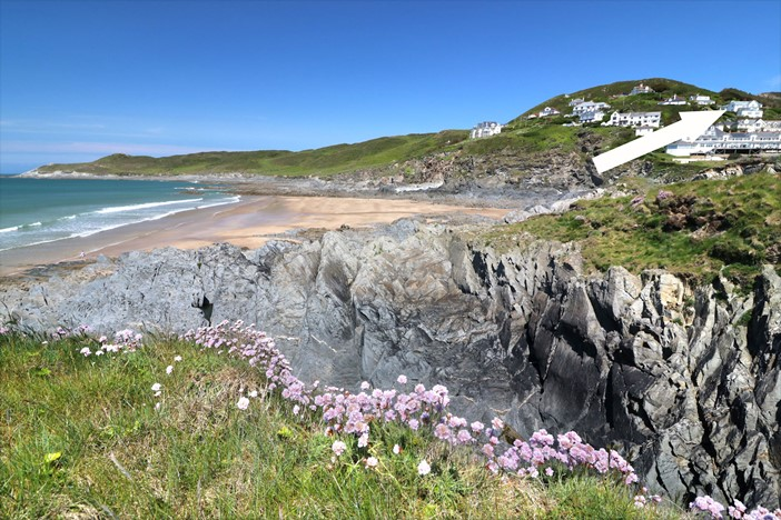 Woolacombe Holiday Cottages Gull Rock Location