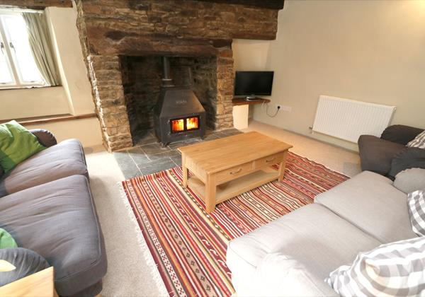 Croyde Holiday Cottages Chuggs Cottage Lounge Fire