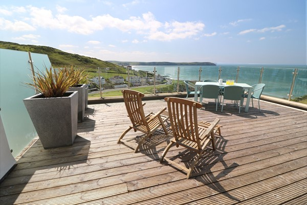 Woolacombe Holiday Cottages 2 Gull Rock Balcony