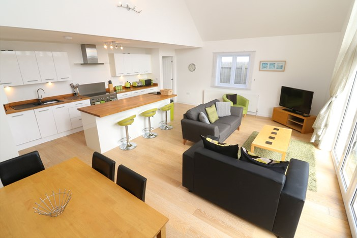 Woolacombe Holiday Cottages High Tides Lower Living Space