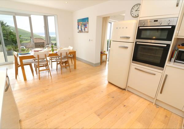 Woolacombe Holiday Cottages Long Beach House Kitchen To Dining