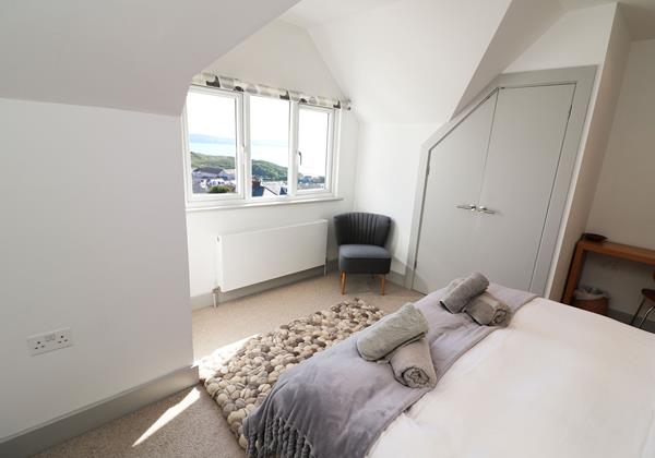 Woolacombe Holiday Cottages Long Beach House Double Bedroom With View