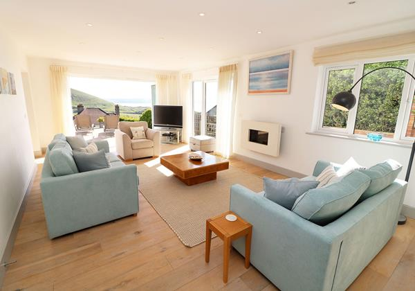 Woolacombe Holiday Cottages Long Beach House Living Room 4