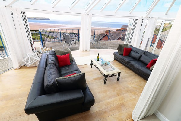 The Penthouse Woolacombe Holiday Cottage Sitting Area