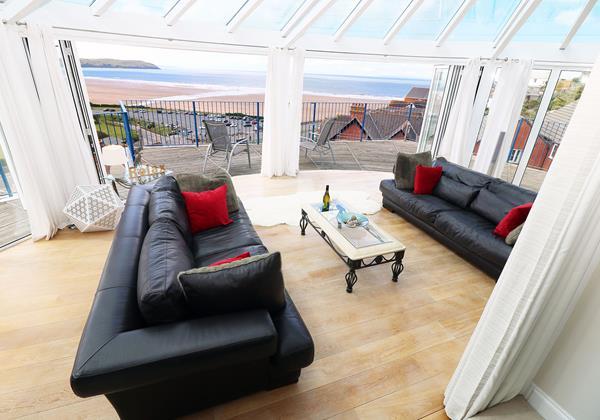 The Penthouse Woolacombe Holiday Cottage Sitting Area