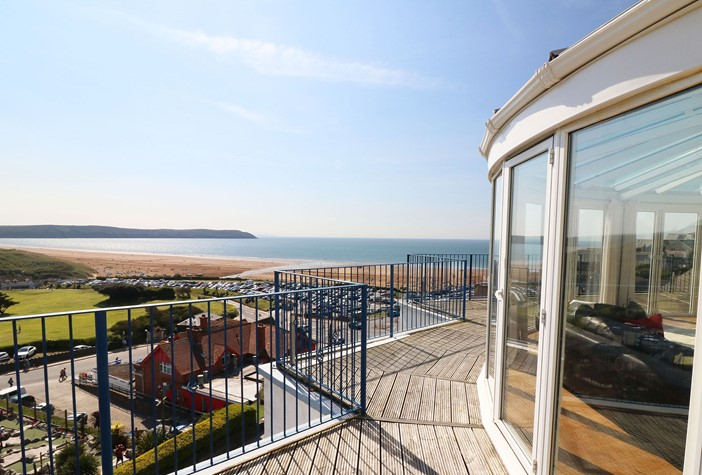 The Penthouse Woolacombe Holiday Cottage View From Balcony