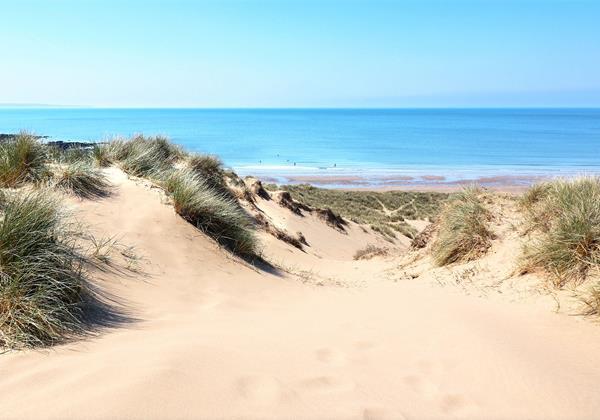 Croyde Bay Beach Sand Dunes To Sea