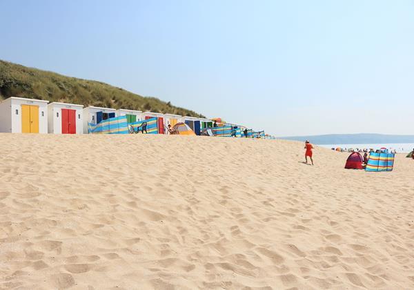 Woolacombe Beach Red Dress Beach Huts