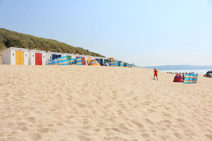 Woolacombe Beach Red Dress Beach Huts