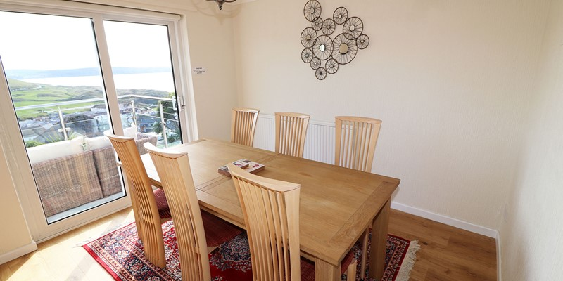 Atlantic House Woolacombe Holiday Cottage Dining View