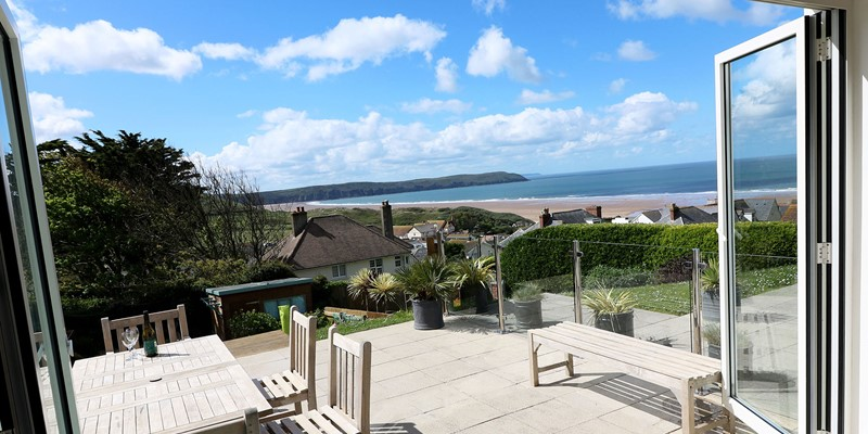 Woolacombe Holiday Cottages Ocean Breeze View From Doors