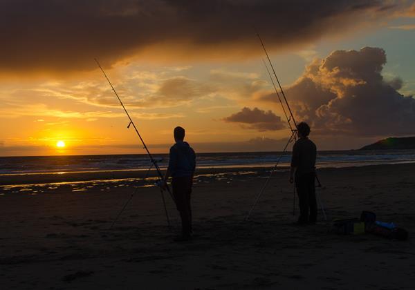 Woolacombe Beach Holidays Sunset Fishing 2