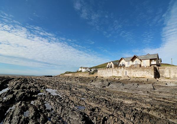 Surfside Croyde Holiday Cottages View From Rocks On Beach