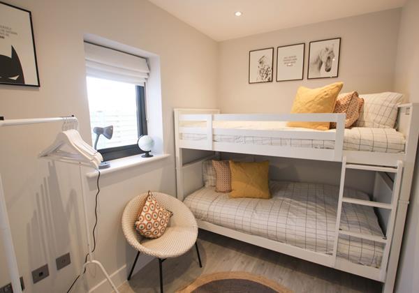 Tresona Croyde Holiday Cottage Bunk Room