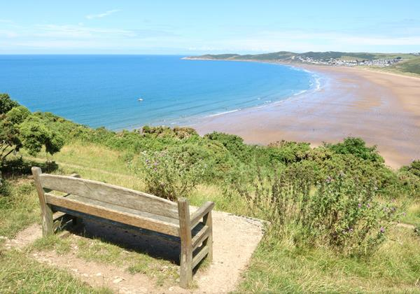 Woolacombe View With Bench