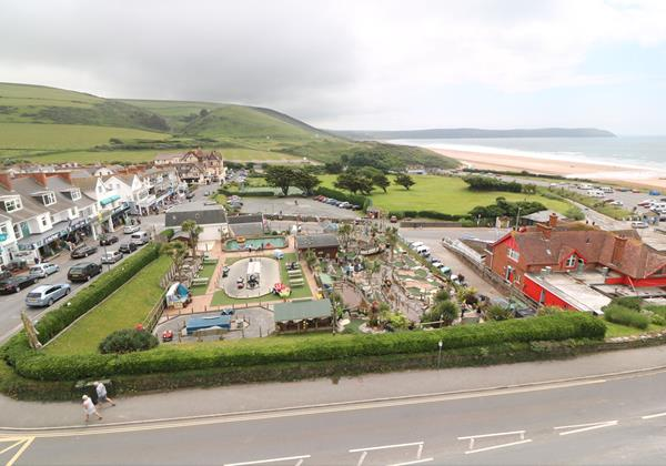 Woolacombe Holiday Cottages The Penthouse Balcony View