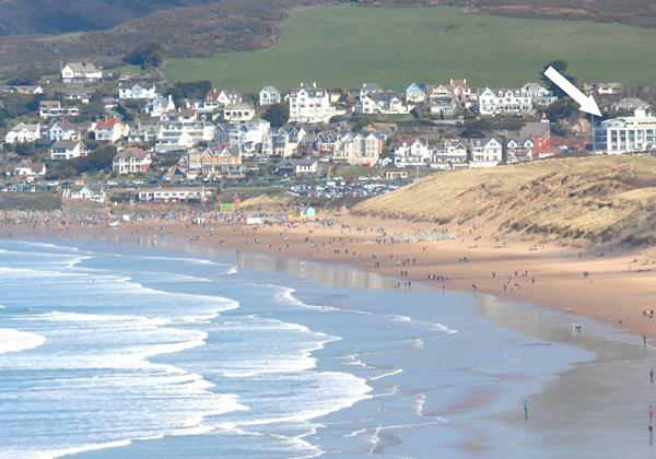 Woolacombe Holiday Cottages The Penthouse Location