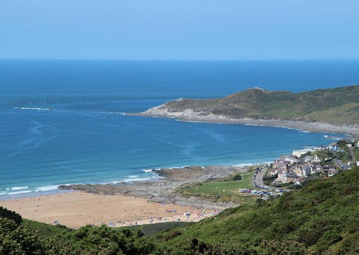 View Down Into Woolacombe From Road From Georgeham