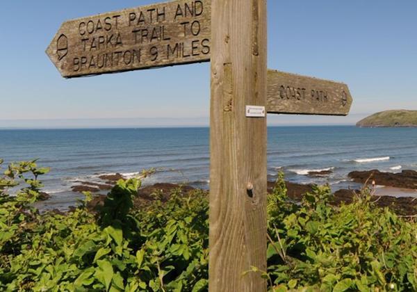 Coast Walk Sign Croyde