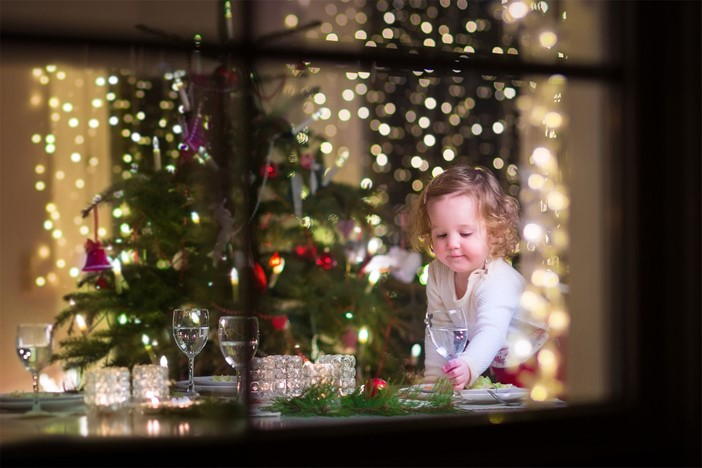Christmas Tree And Child
