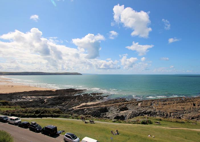 Devon Beach Penthouse Woolacombe Holiday Cottages View From Balcony